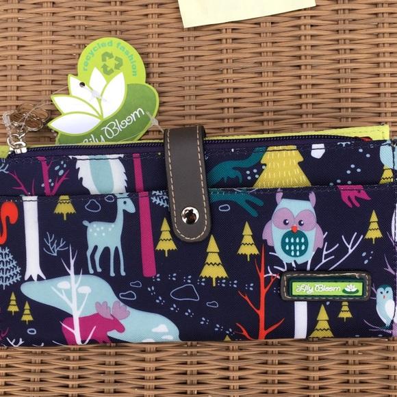 7648d325281e ... Michael Kors Adele Leather Double Zipper Wallet Lily Bloom Yeti snowy animal  travel wallet ...